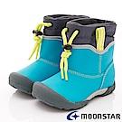 日本月星頂級童鞋  2E防水速乾雨鞋款 TW2101藍綠(中小童段)