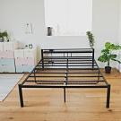 (限時下殺) 無印工業風加高雙人床架/鐵床/附插座/-5尺(2色)