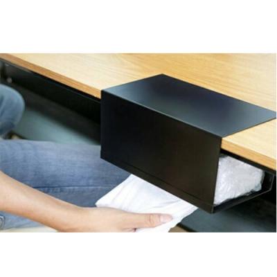 (台灣製造)AB1011WT免釘黏衛生紙盒掛架白色