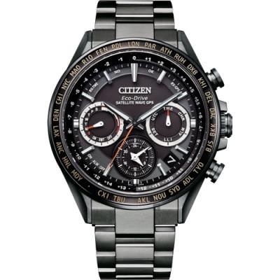 CITIZEN 星辰 廣告款GPS衛星對時光動能鈦金屬手錶  CC4014-62E