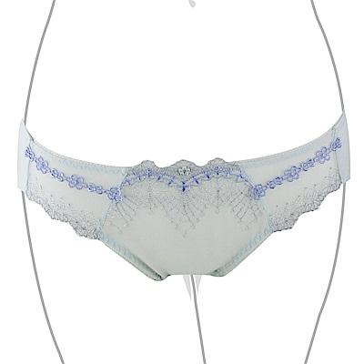 推EASY SHOP-迷戀魔塑5D 中低腰三角褲(灰藍色)