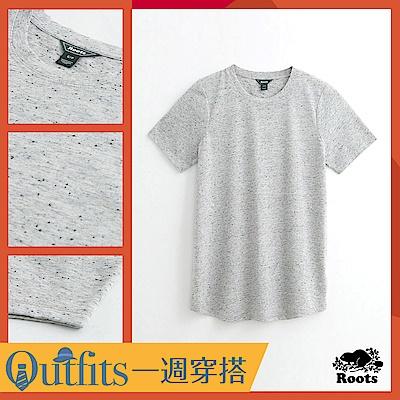 [時時樂限定] Roots女裝 - 珊蒂色紗短袖T恤-灰色