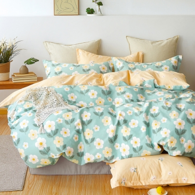 Ania Casa 洛芙拉 加大三件式 100%精梳棉 台灣製 床包枕套純棉三件組