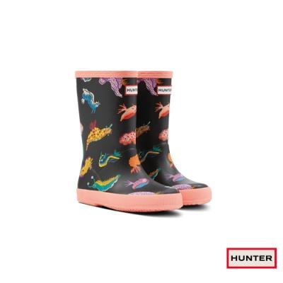 HUNTER - 童鞋 - Original小童經典小海怪印花霧面短靴 - 黑