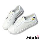 Miaki-休閒鞋穿搭時尚運動小白鞋-黃