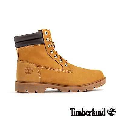 Timberland 男款小麥黃戶外抓地正絨面皮革六吋靴|A1ODR