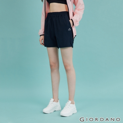 GIORDANO 女裝3M輕薄運動短褲 - 05 深藍