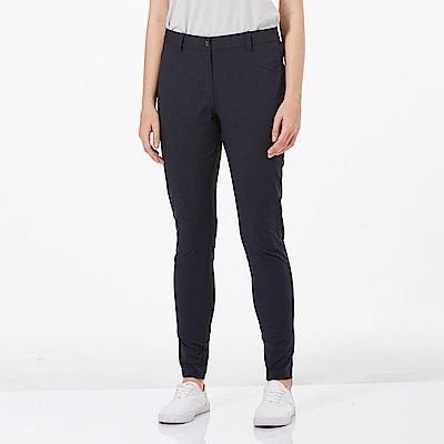 【HAKERS 哈克士】女 抗UV快乾彈性合身長褲-深軍藍