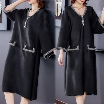 【KEITH-WILL】(預購)時尚激推獨具壓褶風格洋裝