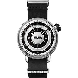 BOMBERG 炸彈錶 BB-01 紳士手錶-黑皮帶/43mm