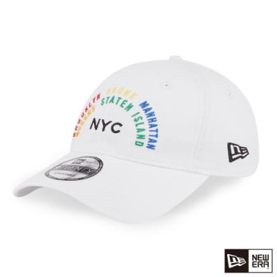 NEW ERA 9TWENTY 920 彩虹城市 白 棒球帽