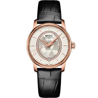 MIDO 美度 Baroncelli 永恆系列 優雅氣質女錶-珍珠貝/33mm