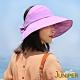 JUNIPER 抗UV防潑水可收納淑女遮陽空心帽(三色)