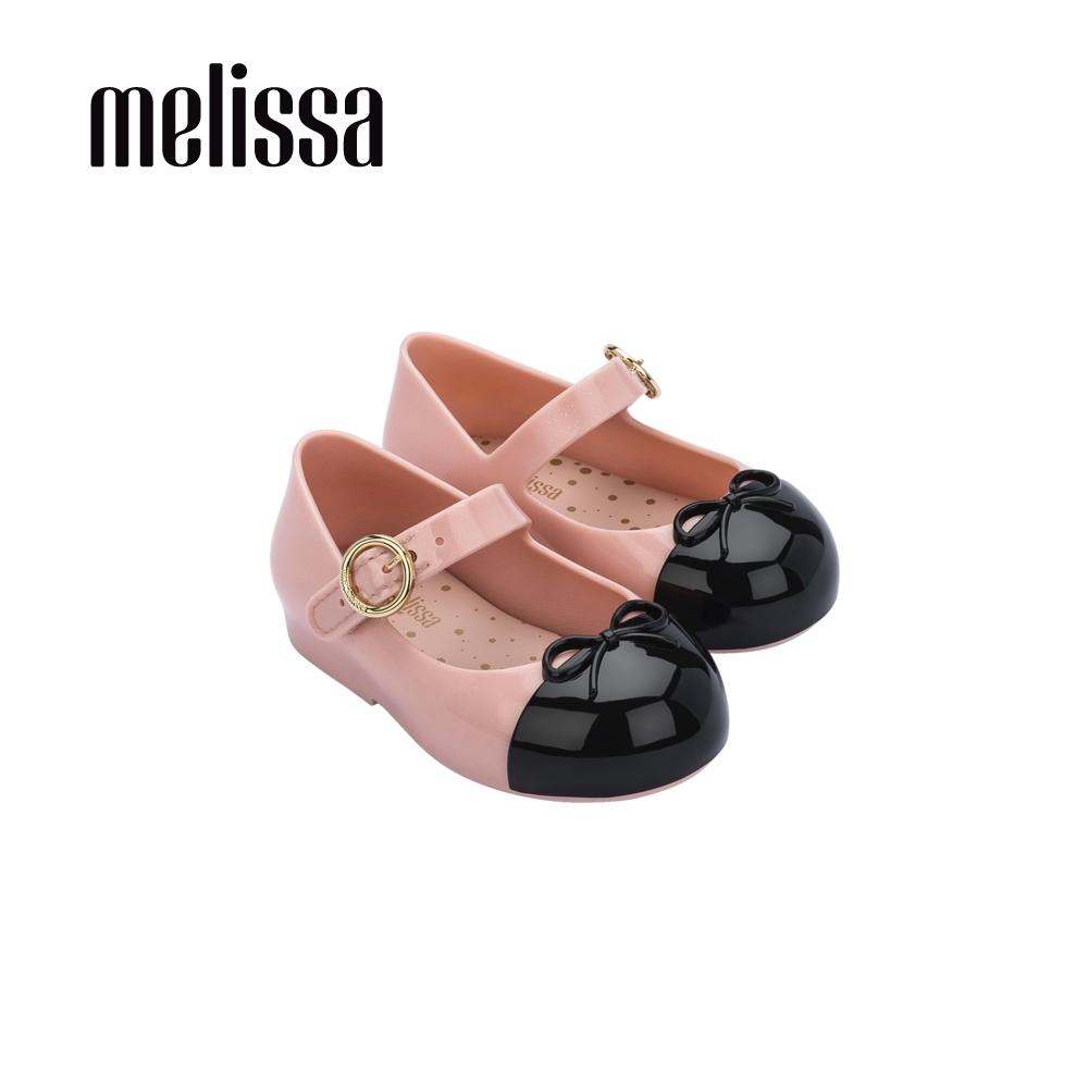Melissa SWEET LOVE撞色蝴蝶結娃娃鞋 寶寶款-黑粉