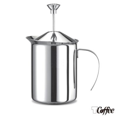 TCoffee MILA-雙層彈簧奶泡杯400ml