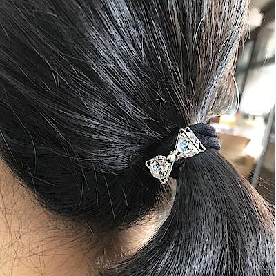 Hera 赫拉 歐美鑲鋯石髮圈4入組-隨機