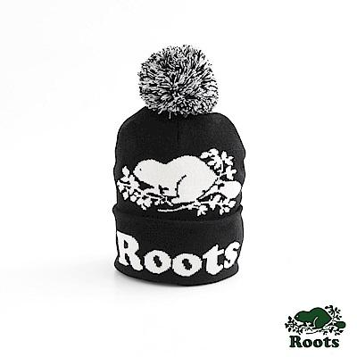 男配件- 經典海狸毛球針織帽- 黑