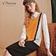 OUWEY歐薇 色塊感厚針織洋裝(黃) product thumbnail 1