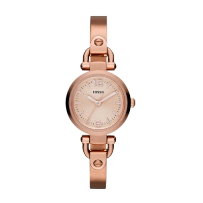 FOSSIL璀鑽奇緣玫瑰金腕錶ES3268
