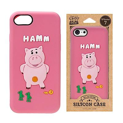 iPhone 8/7 迪士尼 正版授權 可愛/矽膠 手機軟殼 4.7吋-火腿