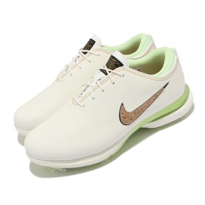 Nike 高爾夫球鞋 Victory Tour 2 寬楦 男鞋 Zoom氣墊 軟木logo 可拆式鞋釘 米白 綠 DC5051-100