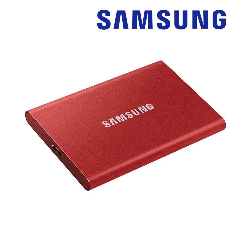SAMSUNG 三星T7 1TB USB 3.2 Gen 2移動固態硬碟 金屬紅 (MU-PC1T0R/WW)