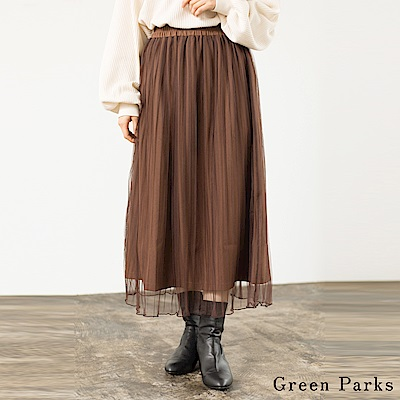 Green Parks 浪漫薄紗百褶裙