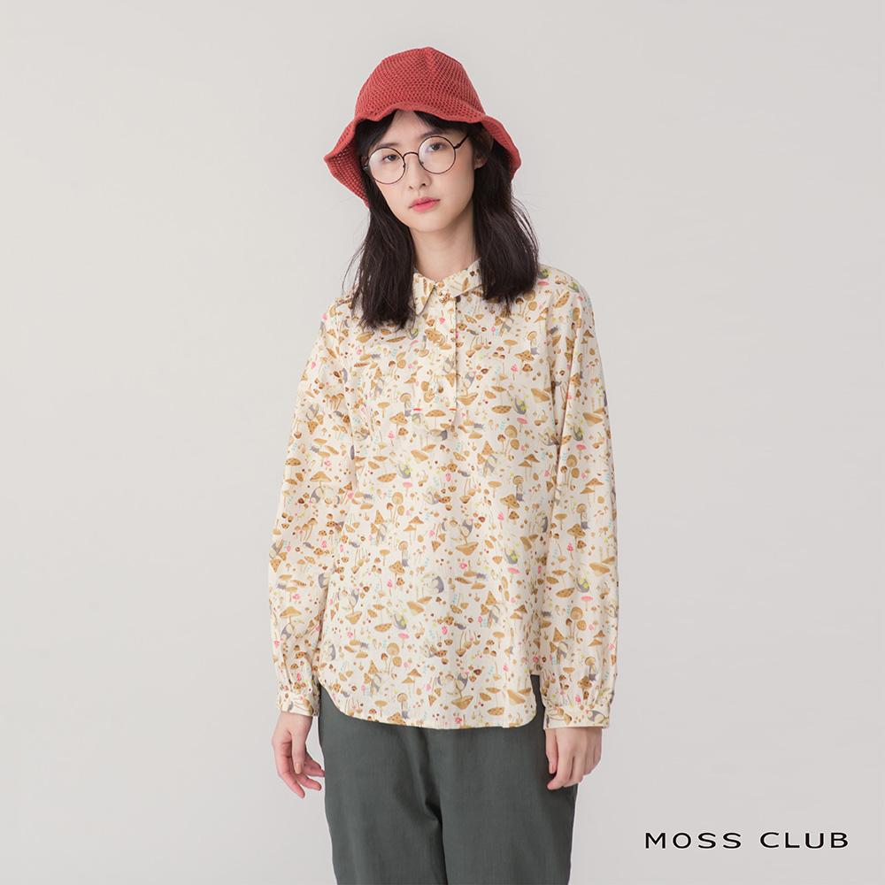 【MOSS CLUB】繽紛蘑菇印花-襯衫(共二色)