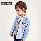 Balabala巴拉巴拉-超級英雄印花長袖襯衫-男(3色)