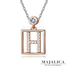 Majalica925純銀精緻鎖骨短鍊女項鍊點晶系列