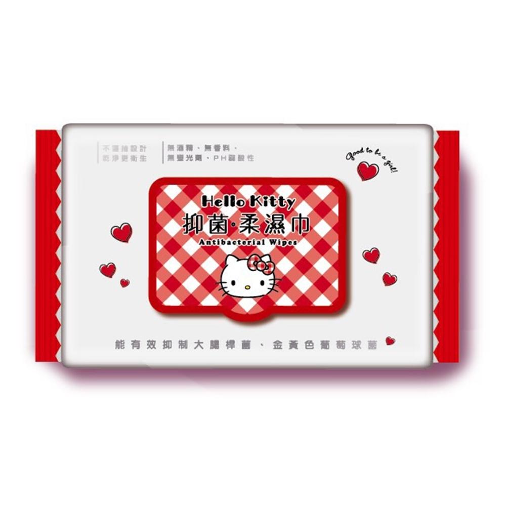 Hello Kitty 凱蒂貓抑菌有蓋柔濕巾/濕紙巾 (加蓋) 70抽 X 12包