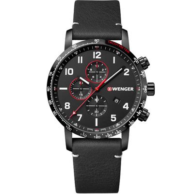 WENGER Attitude Chrono 計時時尚腕錶(01.1543.106)黑
