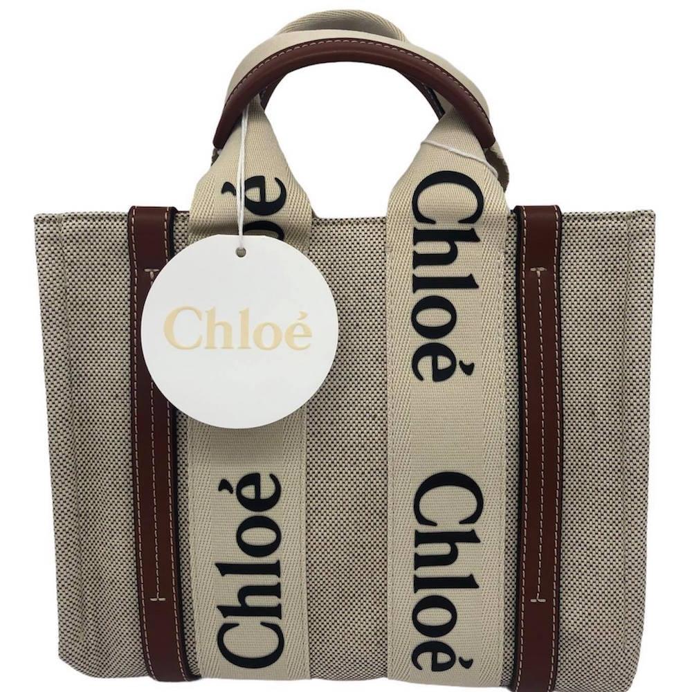 Chloé Woody tote bag帆布托特包(迷你)