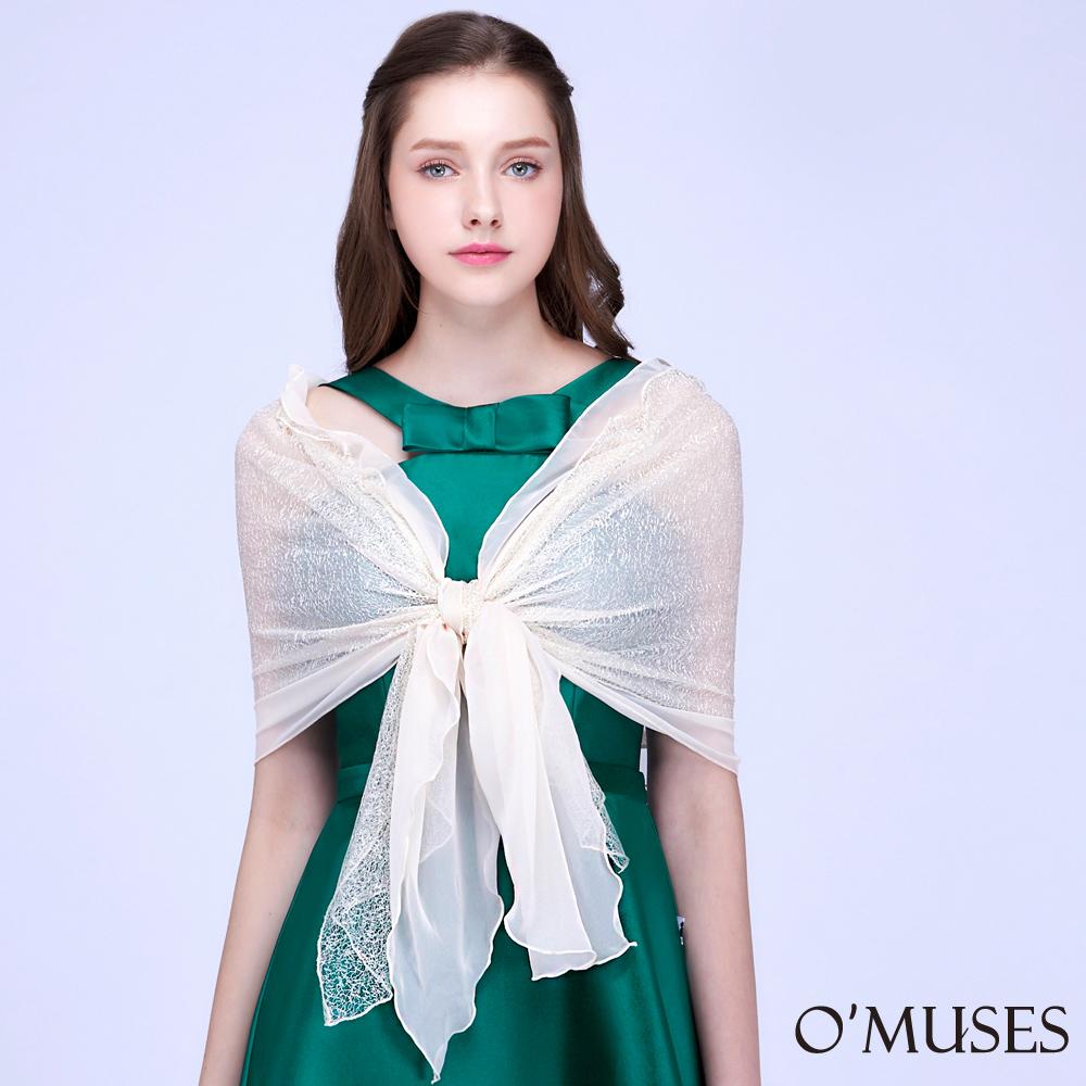 蕾絲雪紡披肩-OMUSES
