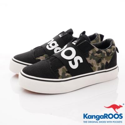 KangaROOS VISTA 帆布趣味童鞋-01321迷彩(中大童段)