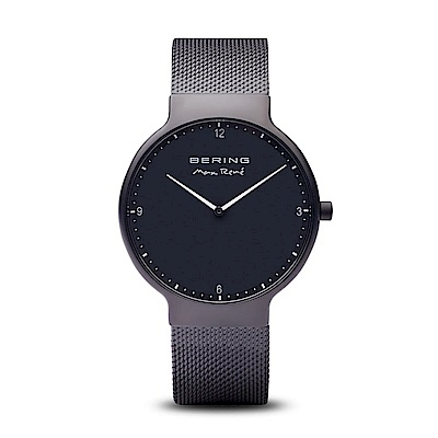 BERING-MAX RENE設計師聯名款 極致黑 米蘭錶帶40mm