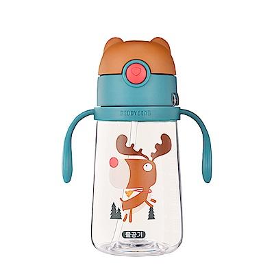 韓國BEDDY BEAR Tritan可背式兒童水壺380ML(麋鹿)
