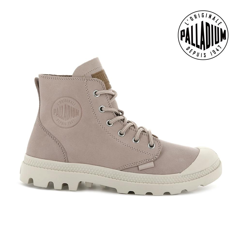 PALLADIUM PAMPA HI NBK皮革靴-中性-玫瑰粉