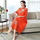 溫婉優雅中國風古典立領刺繡改良旗袍M-3XL(共四色)REKO