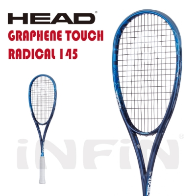 【HEAD】壁球拍 GRAPHENE TOUCH RADICAL 145g 深藍/天空藍 210038