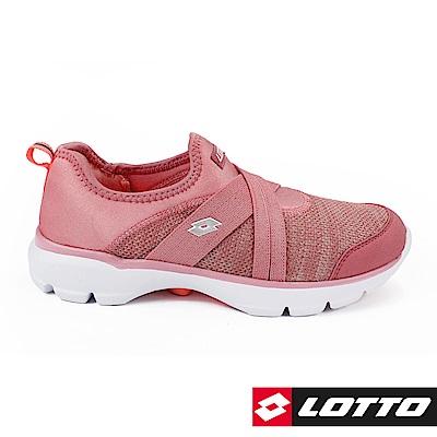 LOTTO 義大利 女 EASYWEAR 樂活輕跑鞋 (玫瑰粉)