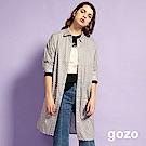 gozo 簡約滿版水玉點點印花洋裝(灰色)