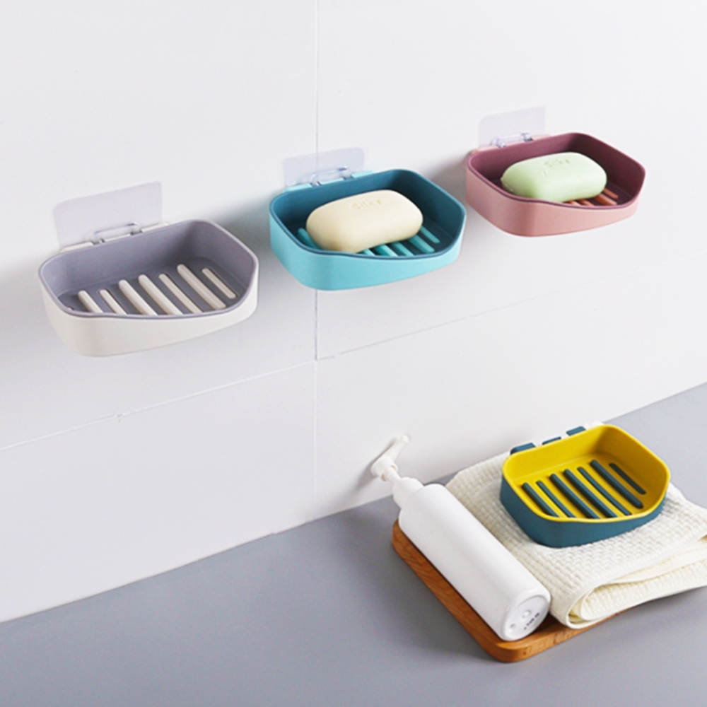 【Cap】魔術無痕廚衛撞色系肥皂架/菜瓜布架