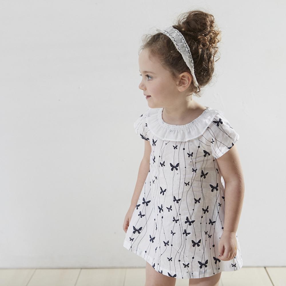PIPPY 印花小禮服洋裝 白
