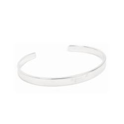 agnes b. 基本款純銀男性手環(銀)