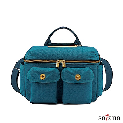 satana - 拼接相機包/野餐包 - 深海藍