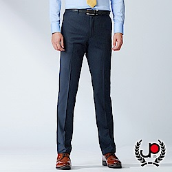 極品西服 英式典雅款直條紋平面西褲_丈青(BW735-1)