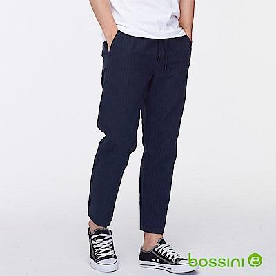 bossini男裝-直條紋輕便長褲葡萄色