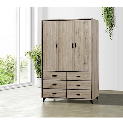 MUNA尼諾4 X 7尺衣櫥(含內鏡)  121X60X194.5cm