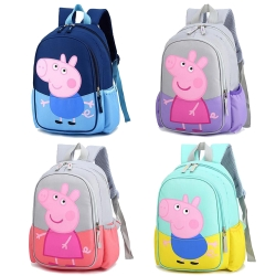 【優貝選】可愛撞色佩佩豬/喬治輕量 幼兒園小童後背包